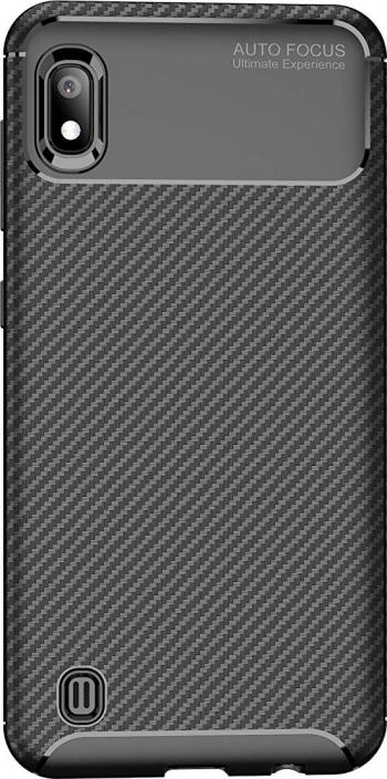 Husa Premium Rugged Carbon New Auto Focus Samsung Galaxy A10 Negru