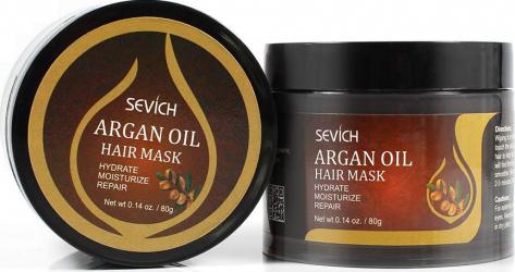 Masca pentru par deterioriat din ulei de Argan Organic balsam baza nutritiva Sevich 80 g Masca