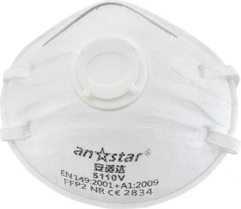 Set 10 bucati Masca protectie conica FFP2 cu Valva respiratorie si filtrare BFE and ge 95 Certificata CE Anstar CP9994047AB Masti chirurgicale si reutilizabile