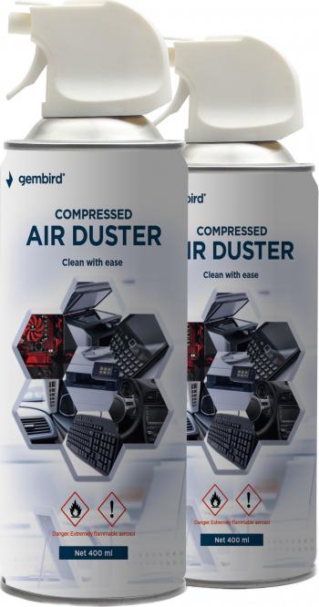 Spray aer comprimat pentru curatare electronice pachet 2 x 400 ml