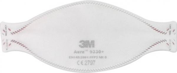 Masca de protectie respiratorie de particule 3M and trade Aura and trade 9330+ FFP3 Masti chirurgicale si reutilizabile
