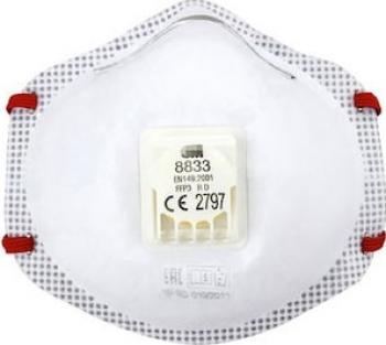 Set 10 buc de masca FFP3 de protectie respiratorie 3M and trade 8833 cu supapa Cool Flow and trade Masti chirurgicale si reutilizabile