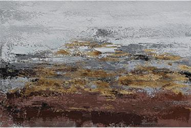 Tablou pictat manual Modern Gold Brown 80 x 120 cm Maro deschis Tablouri