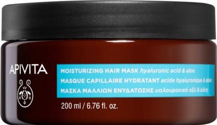 Masca de par cu Acid Hialuronic si Aloe Apivita 200 ml Tratamente de par