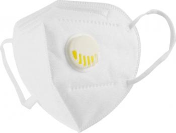 Set 10 Masti KN95 / FFP2 cu valva Albe sigilate Certificat CE Masti chirurgicale si reutilizabile