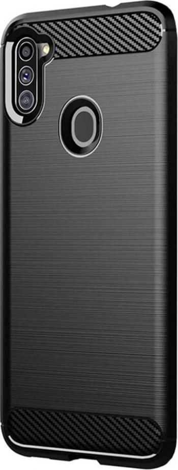 Husa G-Tech TPU din carbon Samsung Galaxy M11 Negru