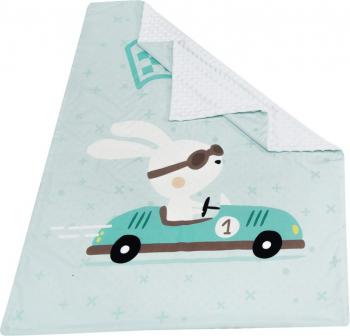 Paturica clasica model iepuras mare in cursa si plus alb Lenjerii, saltele si accesorii