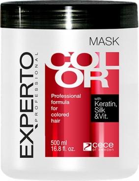 Masca de par pentru mentinerea culorii cu matase cheratina si vitamine Experto Professional 500 ml cod 4105 Masca