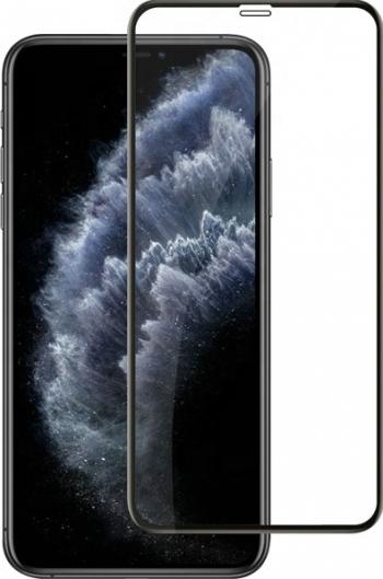 Folie protectie Premium iPhone 12 Pro Max 6.7 inch Apple Full Cover Black 6D Full Glue Sticla securizata Transparent Negru