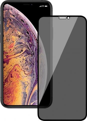Folie protectie Privacy Premium iPhone 12 Pro Max Full Cover Black 6D Full Glue Sticla securizata