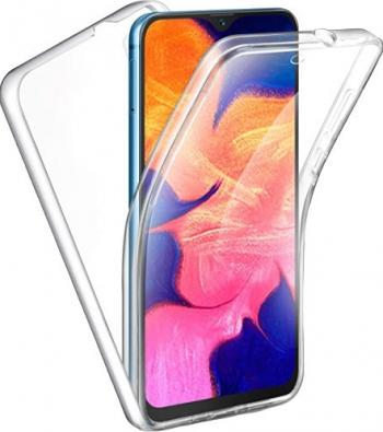 Husa 360 Grade Full Cover Upzz Case Silicon Compatibila Cu Xiaomi Mi 10 / Mi 10 Pro Transparenta