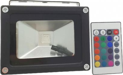 Proiector multicolor LED SMD RGB 10W IP 65 cu telecomanda Corpuri de iluminat