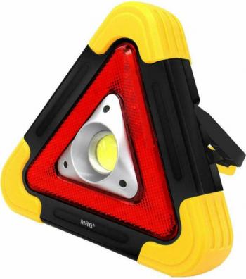 Triunghi Luminos MRG M-HB6609 Reincarcabil Panou solar Negru/Galben Corpuri de iluminat