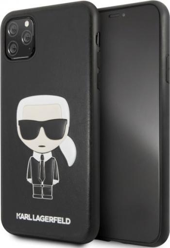 Husa Originala Premium Karl Lagerfeld iPhone 11 Pro Max Negru Karl Embossed- Klhcn65ikpubk Huse Telefoane