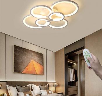 Lustra LED Creative Rings 6 Corpuri de iluminat