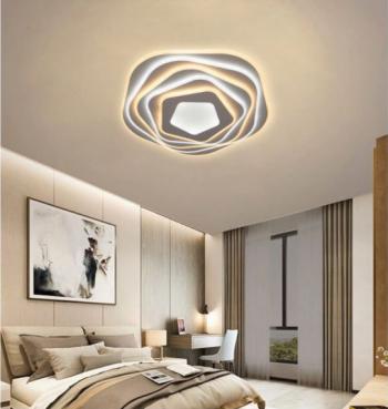 Plafoniera LED Creative Hexagonal 2 Corpuri de iluminat