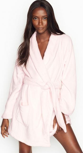 Halat Victorias Secret Logo Short Cozy Mauve Chalk Marime M Halate dama