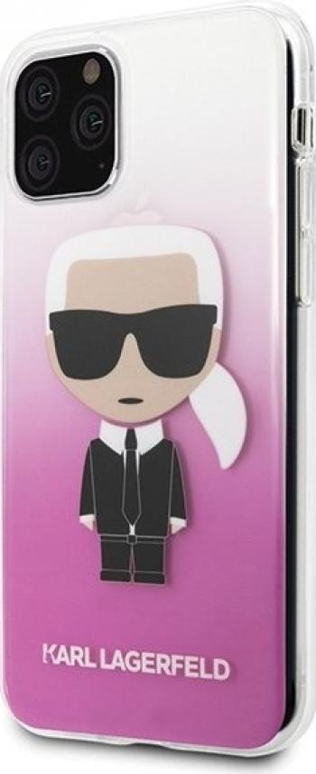 Husa Premium Karl Lagerfeld iPhone 11 Pro Glitter Karl Roz Silicon Huse Telefoane