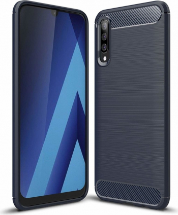 Husa Spate Forcell Carbon Pro Samsung Galaxy A50 Dark Blue Huse Telefoane