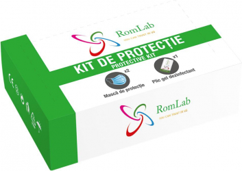 Kit protectie Covid-19 Masca si gel dezinfectant monodoza Gel antibacterian