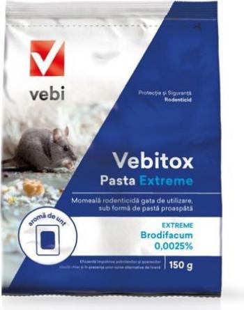 pret preturi Raticid otrava pentru soareci si sobolani Vebitox Pasta Extreme 150 g