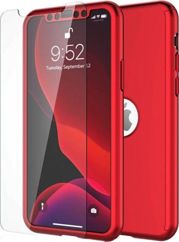 Husa 360 pentru iPhone 11 Pro Red Huse Telefoane