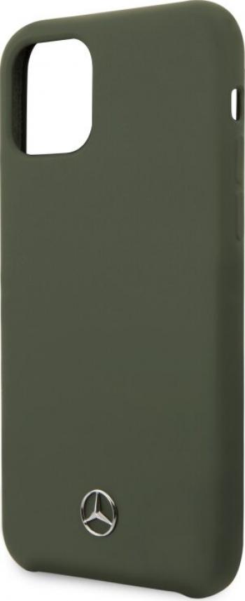 Husa Cover Mercedes Microfiber Lining pentru iPhone 11 Pro Verde Huse Telefoane