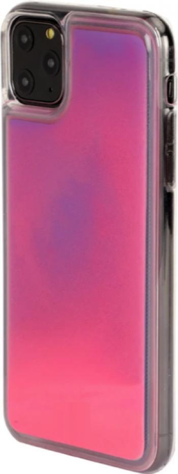 Husa Glow in the Dark pentru iPhone 11 Pro Pink Huse Telefoane