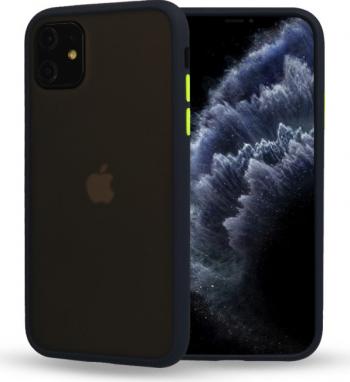 Husa mata cu bumper din silicon pentru iPhone 11 Pro Max Blue Huse Telefoane