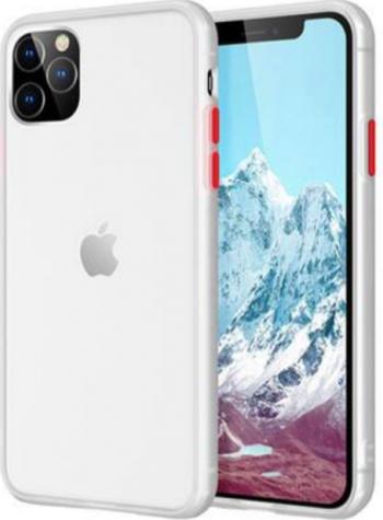 Husa mata cu bumper din silicon pentru iPhone 11 Pro White Huse Telefoane
