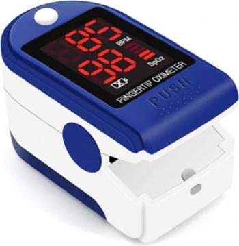 Pulsoximetru Albastru/Alb Indica nivelul de saturatie a oxigenului din sange Masoara rata pulsului Pulsoximetre