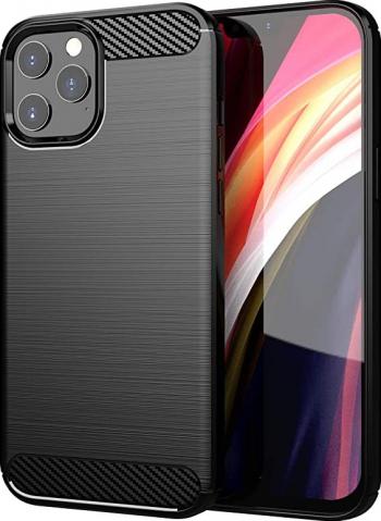Husa Spate Upzz Carbon Pro iPhone 12 Pro Max negru Huse Telefoane