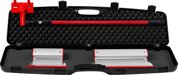 KIT Gletiere Profesionale Premium ZuperPRO - Set 2 Gletiere 25/40 cm + Prelungitor 1.6m + Carcasa XL lama INLOCUIBILA din INOX 0.3 mm
