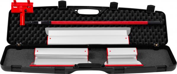 KIT Gletiere Profesionale Premium ZuperPRO - Set 3 Gletiere 25/40/60 cm + Prelungitor 1.6m + Carcasa XL lama INLOCUIBILA din INOX 0.3 mm