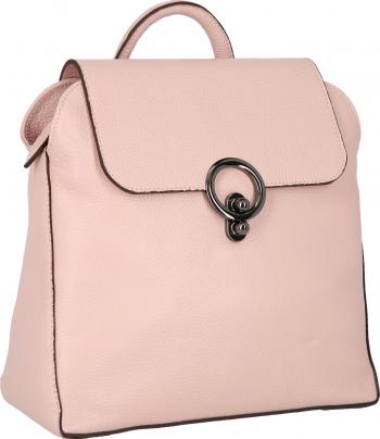 Rucsac din piele naturala roz pudra model 4114 MAGAZINUL DE GENTI