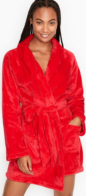 Halat Victorias Secret Logo Short Cozy Bright Cherry Marime S Halate dama