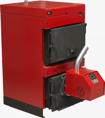 Pachet centrala mixta lemn si peleti Sunsystem Burnit WBS 40 KW cu arzator Peleti Pell Eco 30 kw snec aprindere automata Centrale pe lemne