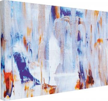 Tablou Canvas Abstract Blue 40 x 60 cm 100 Bumbac Tablouri