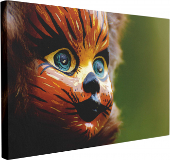 Tablou Canvas Cat Doll 60 x 90 cm 100 Poliester Tablouri