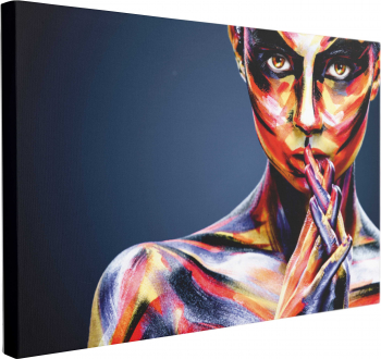 Tablou Canvas Colorful Girl 60 x 90 cm 100 Poliester Tablouri