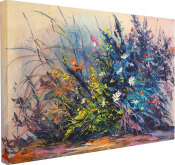 Tablou Canvas Flori Pictate 50 x 70 cm 100 Bumbac Tablouri
