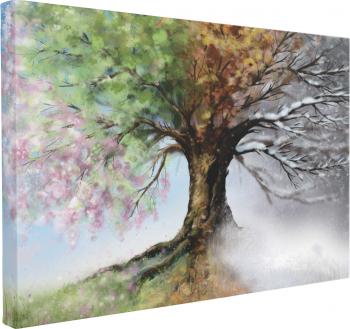 Tablou Canvas Four Season Tree 70 x 100 cm 100 Bumbac Tablouri