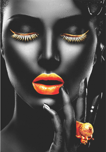 Tablou Canvas Gold Passion 50 x 70 cm 100 Bumbac Tablouri