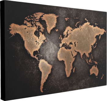 Tablou Canvas Harta Lumii Abstract 40 x 60 cm 100 Bumbac Tablouri