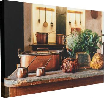 Tablou Canvas Masa din Bucatarie 60 x 90 cm 100 Bumbac
