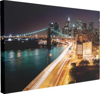 Tablou Canvas Night Light City 40 x 60 cm 100 Poliester Tablouri