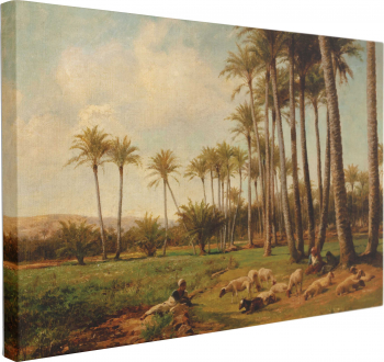 Tablou Canvas Oasis in the Desert 1899 by David Bates 40 x 60 cm 100 Poliester Tablouri