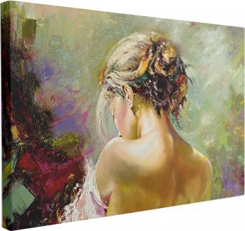 Tablou Canvas Portrait of the Exposed Girl 70 x 100 cm 100 Poliester Tablouri