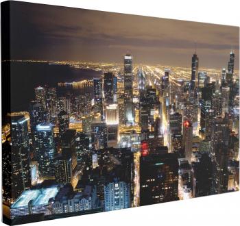 Tablou Canvas Zgarie-Norii din Chicago 60 x 90 cm 100 Bumbac Tablouri