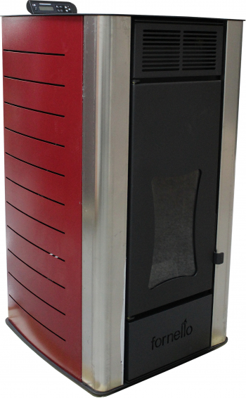 Termosemineu centrala pe peleti Fornello Premium W22 22 kw complet echipat cu pompa de circulatie vas de expansiune supapa siguranta Termoseminee